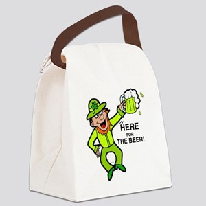 HERE FOR THE BEER Canvas Lunch Bag