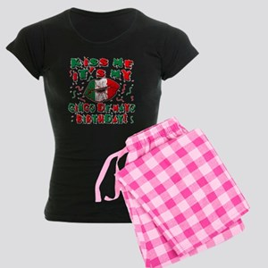 KISS ME Cinco de Mayo Birthd Women's Dark Pajamas