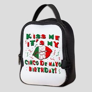 KISS ME Cinco de Mayo Birthday Neoprene Lunch Bag