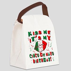 KISS ME Cinco de Mayo Birthday Canvas Lunch Bag