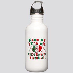 KISS ME Cinco de Mayo Stainless Water Bottle 1.0L