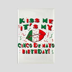 KISS ME Cinco de Mayo Birthday Rectangle Magnet