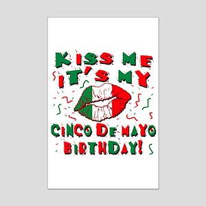 KISS ME Cinco de Mayo Birthday Mini Poster Print