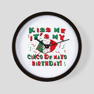 KISS ME Cinco de Mayo Birthday Wall Clock