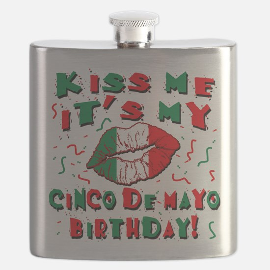 KISS ME Cinco de Mayo Birthday Flask