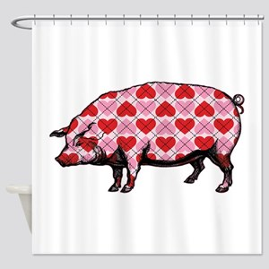 Pig of My Heart Shower Curtain