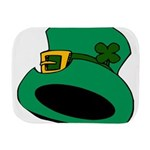 Leprechaun Hat with Shamrock Burp Cloth