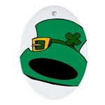 Leprechaun Hat with Shamrock Ornament (Oval)