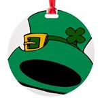 Leprechaun Hat with Shamrock Ornament