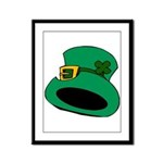 Leprechaun Hat with Shamrock Framed Panel Print