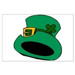 Leprechaun Hat with Shamrock Posters