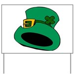Leprechaun Hat with Shamrock Yard Sign