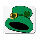Leprechaun Hat with Shamrock Mousepad