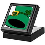 Leprechaun Hat with Shamrock Keepsake Box