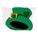 Leprechaun Hat with Shamrock Pillow Case