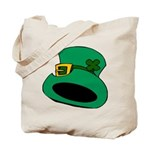 Leprechaun Hat with Shamrock Tote Bag