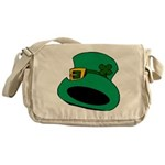 Leprechaun Hat with Shamrock Messenger Bag