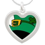 Leprechaun Hat with Shamrock Necklaces