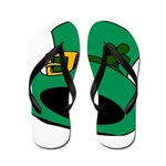 Leprechaun Hat with Shamrock Flip Flops