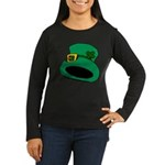 Leprechaun Hat with Shamrock Long Sleeve T-Shirt