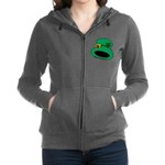 Leprechaun Hat with Shamrock Zip Hoodie