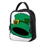 Leprechaun Hat with Shamrock Neoprene Lunch Bag