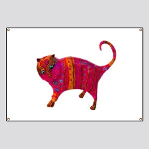 The Pink Tiger Kitty Banner