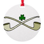 Shamrock and Pipes Ornament