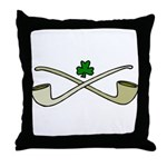 Shamrock and Pipes Throw Pillow