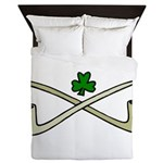 Shamrock and Pipes Queen Duvet