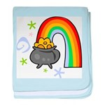 Rainbow with Crock of Gold baby blanket