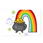 Rainbow with Crock of Gold Postcards (Package of 8
