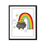 Rainbow with Crock of Gold Framed Panel Print