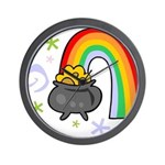 Rainbow with Crock of Gold Wall Clock