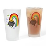 Rainbow with Crock of Gold Drinking Glass