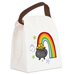 Rainbow with Crock of Gold Canvas Lunch Bag
