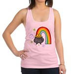 Rainbow with Crock of Gold Racerback Tank Top