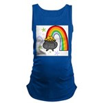 Rainbow with Crock of Gold Maternity Tank Top