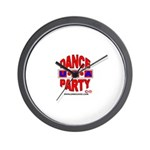 DANCE PARTY USA WALL CLOCK
