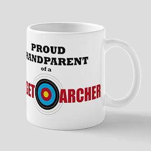 Proud Grandparent Target Archer Mugs