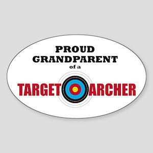 Proud Grandparent Target Archer Sticker (Oval)