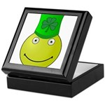 Smiley with Shamrock Keepsake Box
