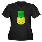 Smiley with Shamrock Plus Size T-Shirt