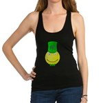 Smiley with Shamrock Racerback Tank Top