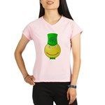 Smiley with Shamrock Performance Dry T-Shirt