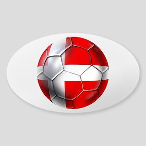Danish Football Sticker (Oval)