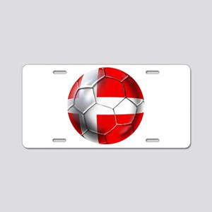 Danish Football Aluminum License Plate