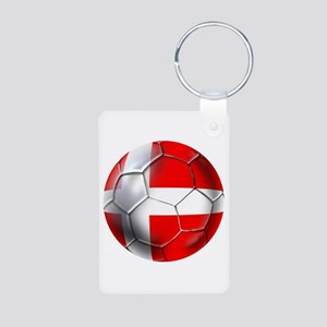Danish Football Aluminum Photo Keychain
