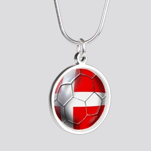 Danish Football Silver Round Necklace