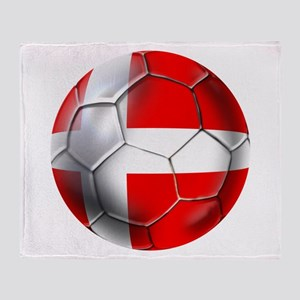 Danish Football Throw Blanket